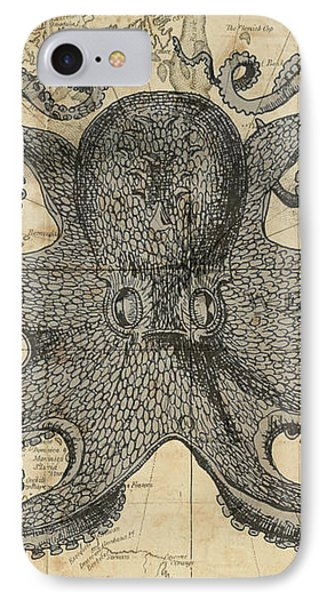 Octopus Sea Chart IPhone Case