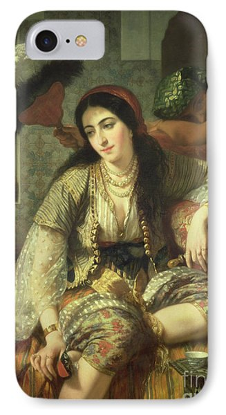 Odalisque IPhone Case by Jean Baptiste Ange Tissier
