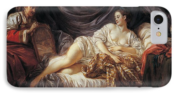 Odalisque  Turkish Slave IPhone Case by Jean-Baptiste Le Prince
