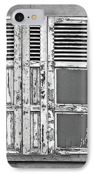 IPhone Case featuring the photograph Odd Pair - Shutters by Nikolyn McDonald