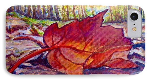 IPhone Case featuring the painting Ode To A Fallen Leaf Painting by Kimberlee Baxter