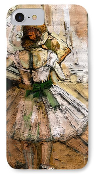 IPhone Case featuring the painting Ode To Degas by Carrie Joy Byrnes