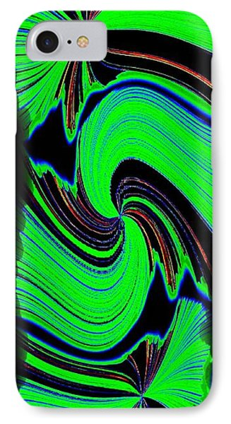 IPhone Case featuring the digital art Ode To Green by Will Borden