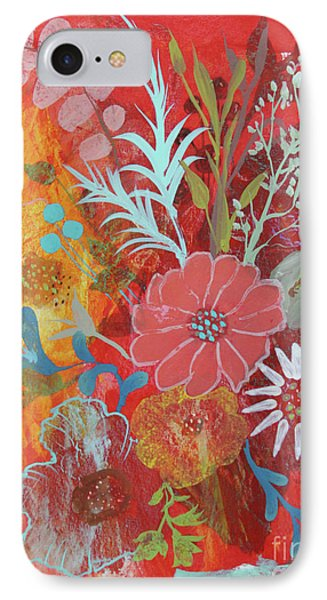 IPhone Case featuring the painting Ode To Spring by Robin Maria Pedrero