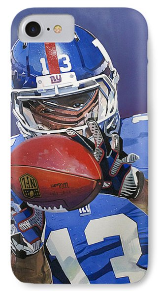 Odell Beckham Jr. Catch New York Giants IPhone Case by Michael Pattison
