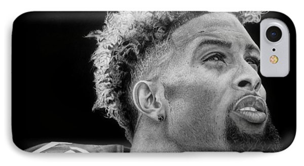Odell Beckham Jr. Drawing IPhone Case by Angelee Borrero