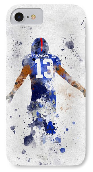 Odell Beckham Jr IPhone Case by Rebecca Jenkins