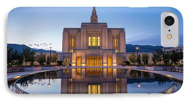 Odgen Lds Temple Sunrise Reflection 2 - Utah IPhone Case by Gary Whitton
