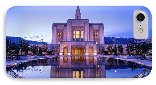 Odgen Lds Temple Sunrise Reflection - Utah IPhone Case by Gary Whitton
