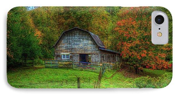 Office In The Barn Gambrel Barn Art IPhone Case by Reid Callaway