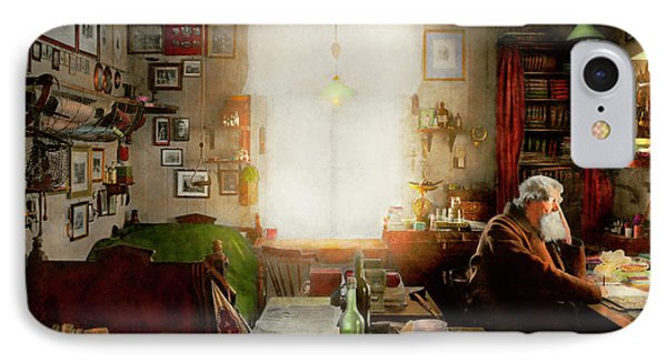 Office - Ole Tobias Olsen 1900 IPhone Case by Mike Savad