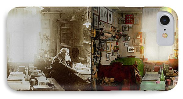 Office - Ole Tobias Olsen 1900 - Side By Side IPhone Case by Mike Savad