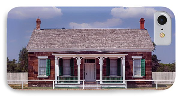 Officers Quarters - Fort Larned - Kansas IPhone Case by Nikolyn McDonald