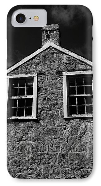 IPhone Case featuring the photograph Officers Quarters, Monochrome by Travis Burgess