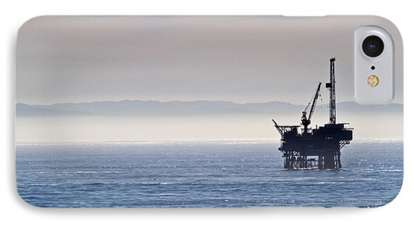 Offshore Oil Drilling Rig IPhone Case by Roger Mullenhour