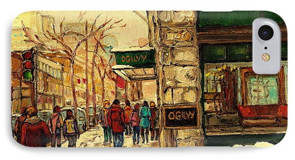 Ogilvys Department Store Downtown Montreal IPhone Case by Carole Spandau