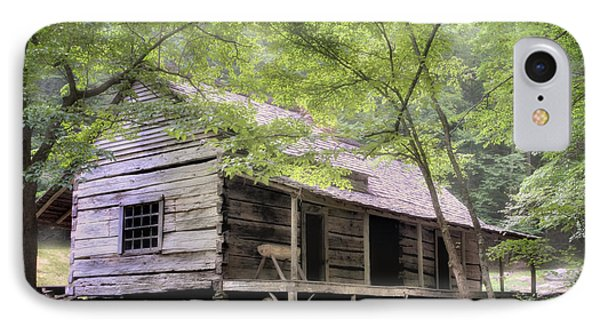 Ogle Homestead - Smoky Mountain Rustic Cabin Phone Case by Thomas Schoeller