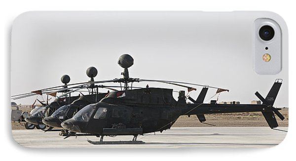 Oh-58d Kiowa Helicopters On The Flight IPhone Case