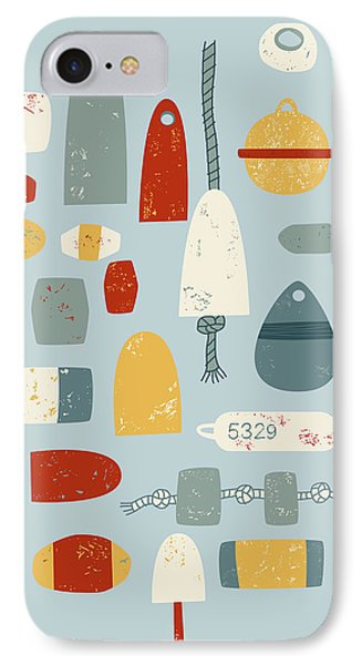 Boat iPhone 7 Case - Oh Buoy by Nic Squirrell