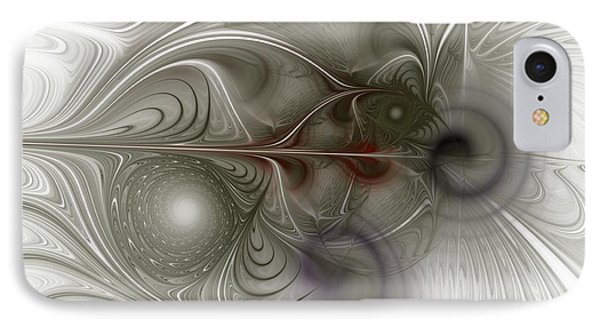 IPhone Case featuring the digital art Oh That I Had Wings - Fractal Art by NirvanaBlues