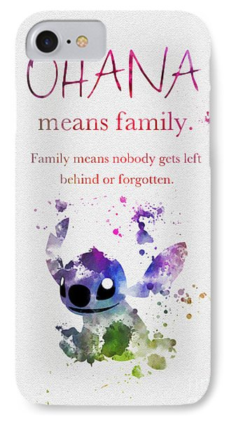 Ohana Means Family 3 IPhone Case