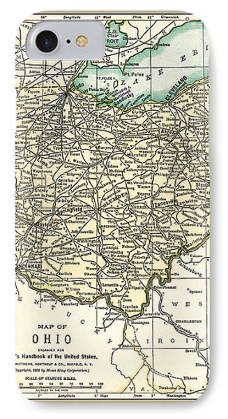 Ohio Antique Map 1891 IPhone Case