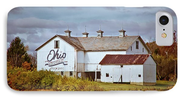 Ohio Bicentennial Barn IPhone Case by Linda Unger