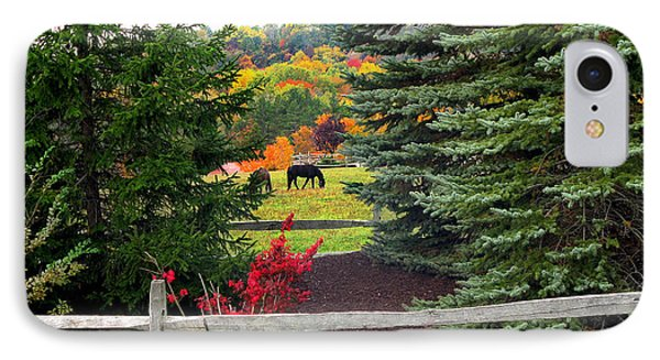 IPhone Case featuring the photograph Ohio Farm In Autumn by Joan  Minchak