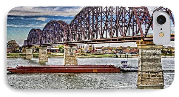 Ohio River Bridge Phone Case by Dennis Cox