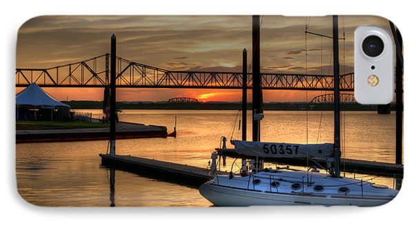 IPhone Case featuring the photograph Ohio River Sailing by Deborah Klubertanz