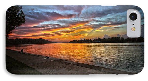 Ohio River Sunset IPhone Case