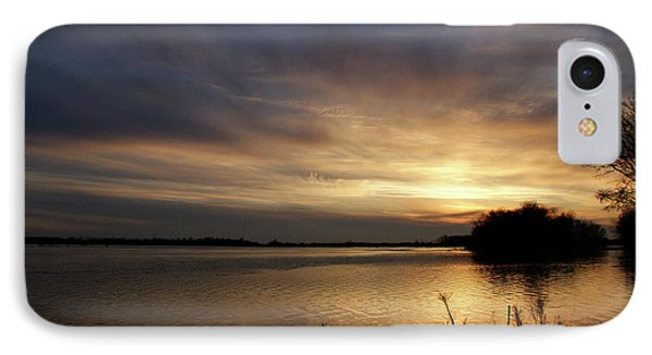 Ohio River Sunset IPhone Case by Sandy Keeton