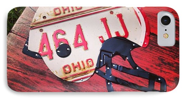 Ohio State #buckeyes #football Helmet - IPhone Case by Design Turnpike
