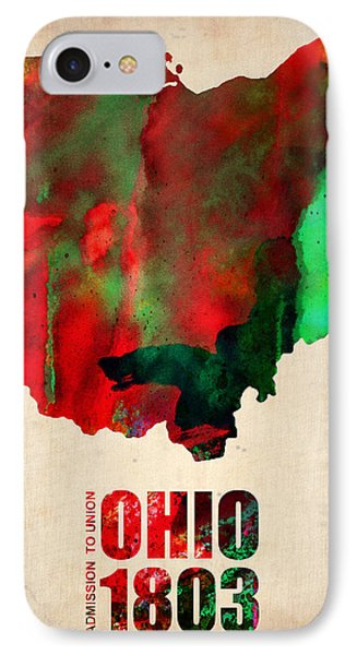 Ohio Watercolor Map IPhone Case