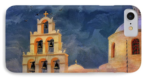 IPhone Case featuring the photograph Oia Sunset Imagined by Lois Bryan