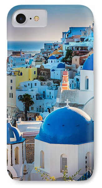 Oia Town IPhone Case by Inge Johnsson