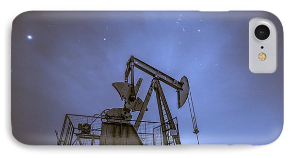 Oil Rig And Stars IPhone Case