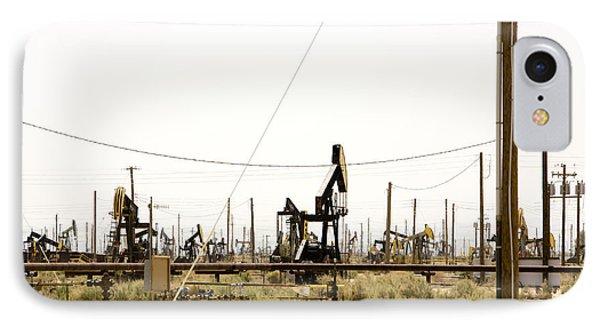 Oil Rigs, Lebec, Mojave Desert, California Phone Case by Paul Edmondson
