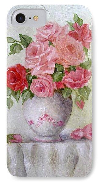 Oil Vase Rose IPhone Case by Chris Hobel