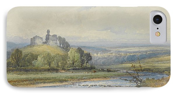 Okehampton Castle IPhone Case by Frederick John Widgery