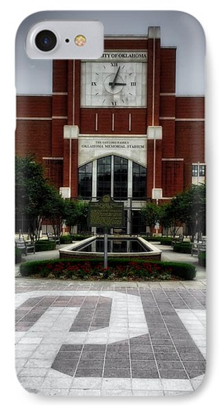 Oklahoma Memorial Stadium IPhone Case by Center For Teaching Excellence