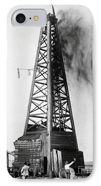 Oklahoma: Oil Well, C1922 IPhone Case by Granger