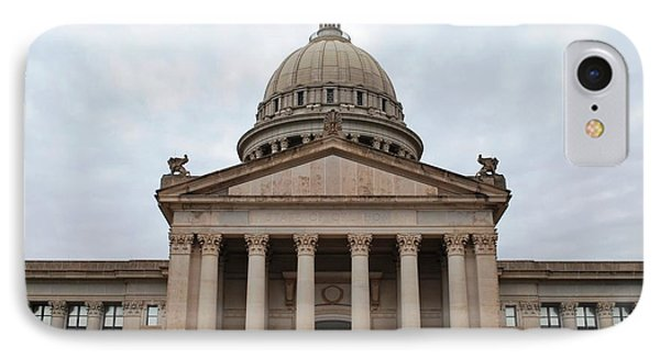 Oklahoma State Capitol - Front View IPhone Case by Matt Harang