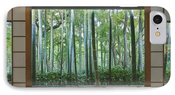 Okochi Sanso Villa Bamboo Garden IPhone Case