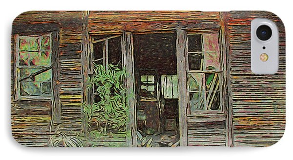 Old Abandoned House - Ghost Dogs Trotting IPhone Case by Rebecca Korpita