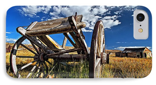 Old Abandoned Wagon, Bodie Ghost Town, California IPhone Case by Sam Antonio Photography