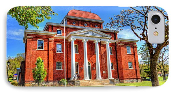 Old Ashe Courthouse IPhone Case by Dale R Carlson