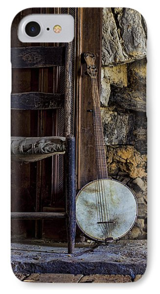 Old Banjo IPhone Case by Heather Applegate