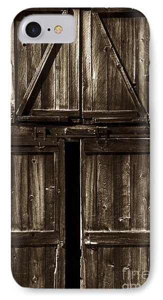 Old Barn Door - Toned Phone Case by Paul W Faust -  Impressions of Light