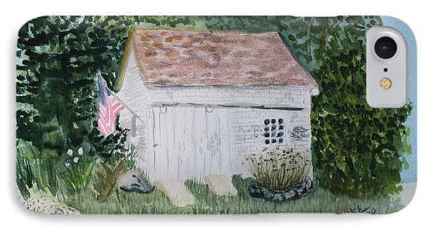 IPhone Case featuring the painting Old Barn In Eastham Ma by Donna Walsh
